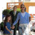 Céline Dion et son fils à Londres le 12/05/08