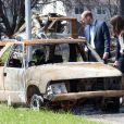 Cette carcasse de voiture témoigne de la violence des feux de forêt qui, poussés par les vents, ont ravagé Slave Lake le 15 mai 2011. William et Kate en étaient effarés...   Sacrifiant leur parenthèse amoureuse, le prince William et Kate Middleton se sont rendus mercredi 6 juillet 2011 à Slave Lake, un village du nord de la province de l'Alberta dévasté par un terrible incendie le 15 mai.