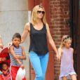Heidi Klum et ses enfants continuent de profiter des joies qu'offre la ville de New York. Le 7 juillet 2011