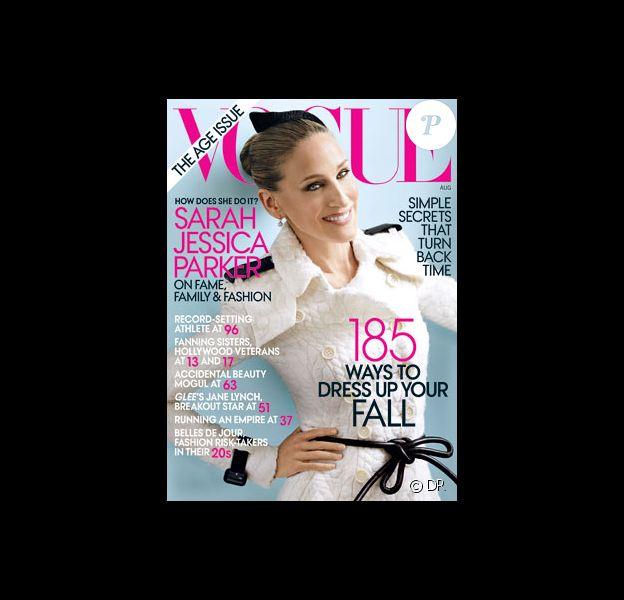 Sarah Jessica Parker en couverture de Vogue USA