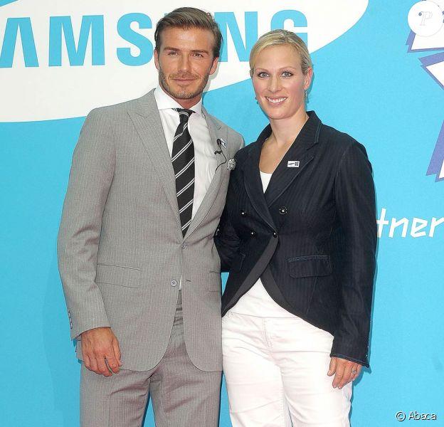 David Beckham et Zara Phillips le 14 juillet 2011 à Londres pour le lancement de la campagne promotionnelle Everyone's olympic games pour les JO 2012