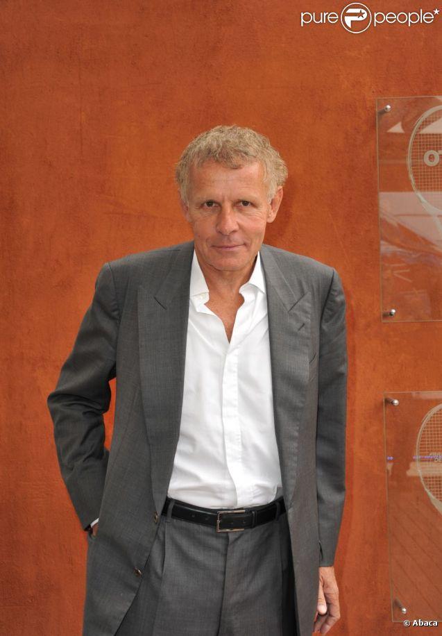 Patrick Poivre d'Arvor à Roland-Garros en mai 2011