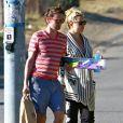 Kate Hudson et son fiancé Matthew Bellamy profite d'un moment de repos pour se rendre sur la plage de Malibu avec le fils de Kate, Ryder, le 18 juillet