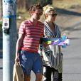 Kate Hudson, son compagnon Matthew Bellamy et son fils Ryder ont profité  d'une journée ensoleillée sur la plage de Malibu le 18 juillet 2011