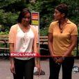Nafissatou Diallo et la journaliste Robin Roberts dans  Good Morning America , sur ABC, le 25 juillet 2011.