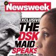 Dominique Strauss-Kahn et Nafissatou Diallo en couverture Newsweek, le 25 juillet 2011.