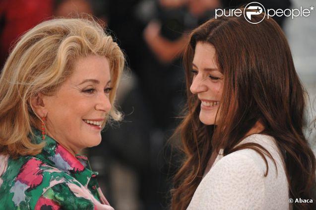 Catherine Deneuve et Chiara Mastroianni au festival de Cannes en 2008