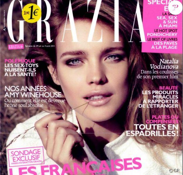 Natalia Vodianova en couverture du magazine Grazia