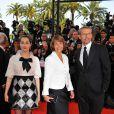 Christine Albanel, ministre de la culture, entourée d'Amira Casar et Lambert Wilson