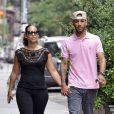 Alicia Keys et son mari Swizz Beatz dans New York le 7 juillet 2011