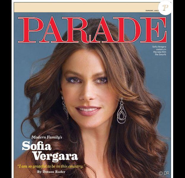 Sofia Vergara en couverture du magazine Parade, juillet 2011.