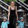 Les jumelles de Sarah Jessica Parker et Matthew Broderick, Marion et Tabitha à New York le 3 août 2011