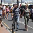 Antonio Banderas et sa femme Melanie Griffith en vacances à Marbella le 8 août 2011