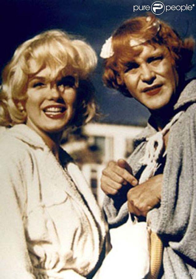 Jack Lemmon et Marilyn Monroe dans  Certains l'aiment chaud , 1959.