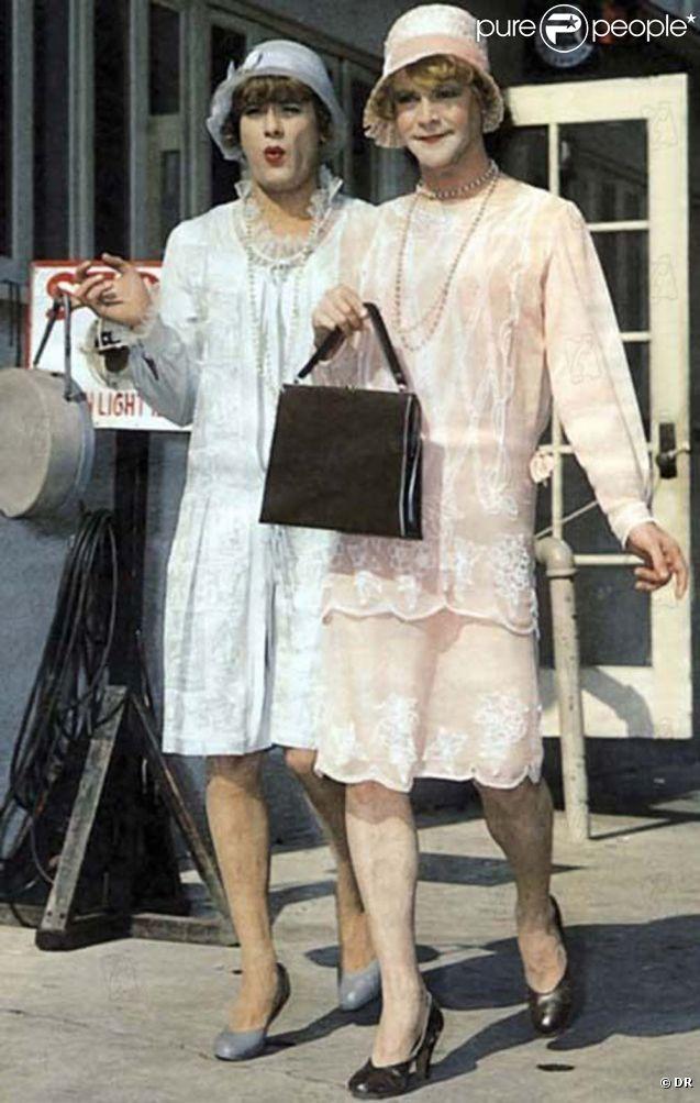 Tony Curtis et Jack Lemmon dans  Certains l'aiment chaud , 1959.