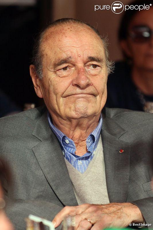 Jacques Chirac à Saint-Tropez le 9 août 2011