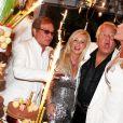 Orlando, Monika Bacardi, Massimo Gargia et Brigitte Nielsen aux Moulins de Ramatuelle, le 18 août 2011.
