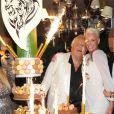 Brigitte Nielsen lors de l'anniversaire de Massimo, en août 2011.
