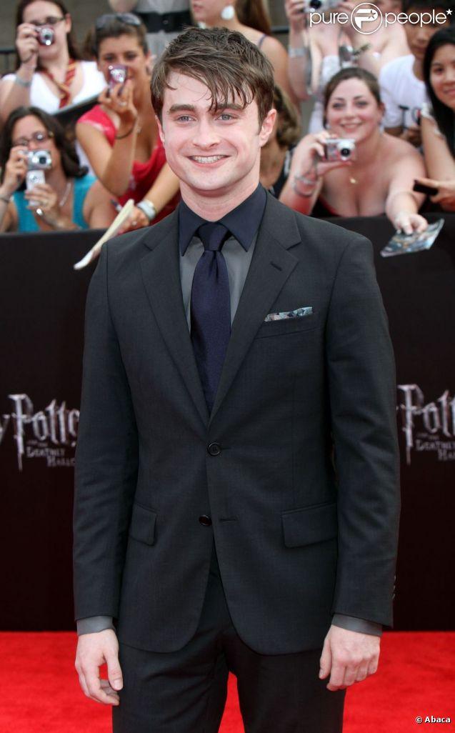 Daniel Radcliffe lors de la première new-yorkaise de Harry Potter et les Reliques de la mort - partie II en juillet 2011