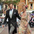 Georg Friedrich de Prusse et de la princesse Sophie d'Isembourg au mariage du prince Albert et de Charlene Wittstock, les 1er et 2 juillet 2011.