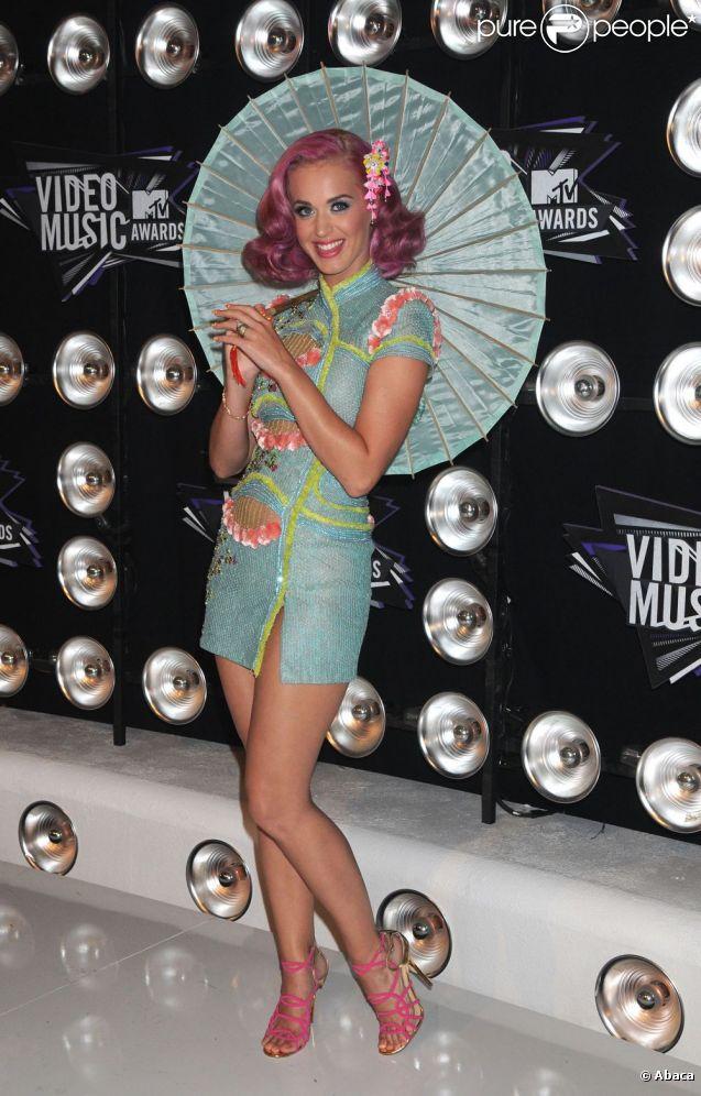 Katy Perry au MTV Music Awards à Los Angeles le 28 août 2011