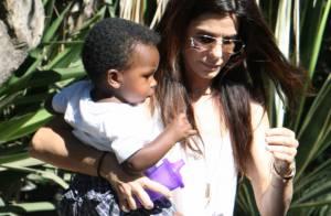 Sandra Bullock : Scène de tendresse avec son adorable fils, Louis