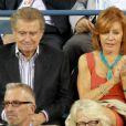 Regis Philbin, animateur vedette du Qui Veut Gagner des Millions version US a assisté à la victoire d'Andy Roddick lors du premier tour de l'US Open le 31 août 2011 en compagnie de sa femme Joy.