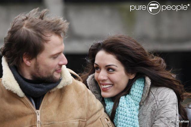 Sofia Essaïdi et Axel Kiener sur le tournage d'Aïcha : la grande débrouille, diffusé France 2 à 20h35 le 7 septembre