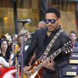 Lenny Kravitz en live sur le NBC's Today Show, à New York le 2 septembre 2011