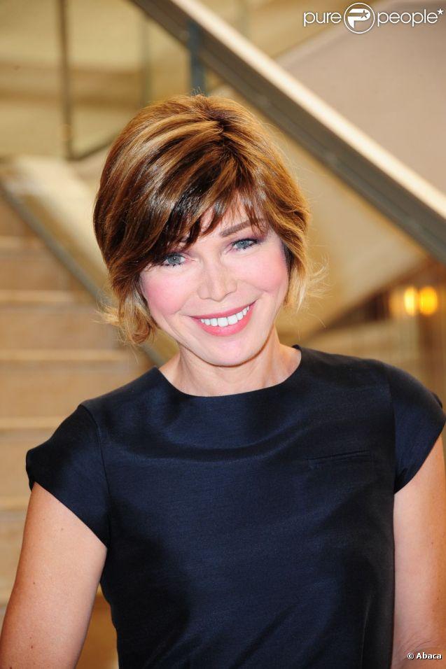 Isabelle Morizet aka Karen Cheryl lors de la conférence de presse annuelle de France 3 le 12 septembre 2011 à Paris