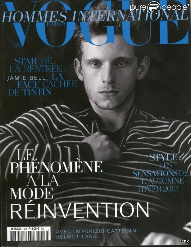 Jamie Bell en couverture du  Vogue Hommes International  automne-hiver 2011-2012