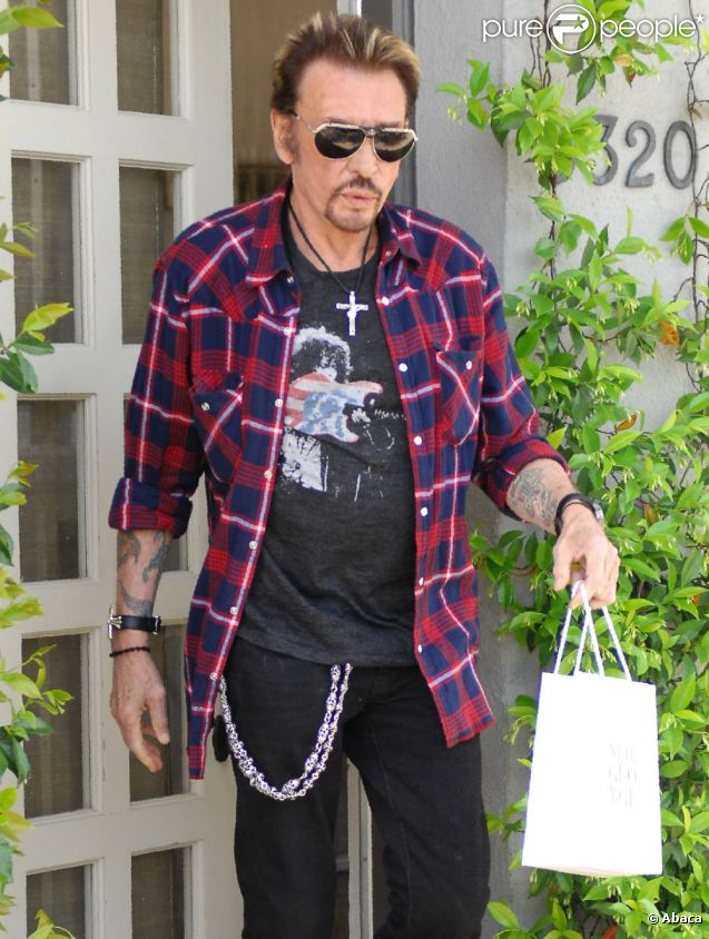 Johnny Hallyday en avril 2011 à Los Angeles