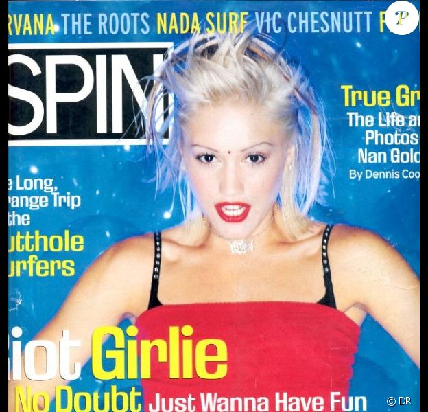 La chanteuse Gwen Stefani dans sa période rock, en couverture du magazine Spin. Juin 1996.