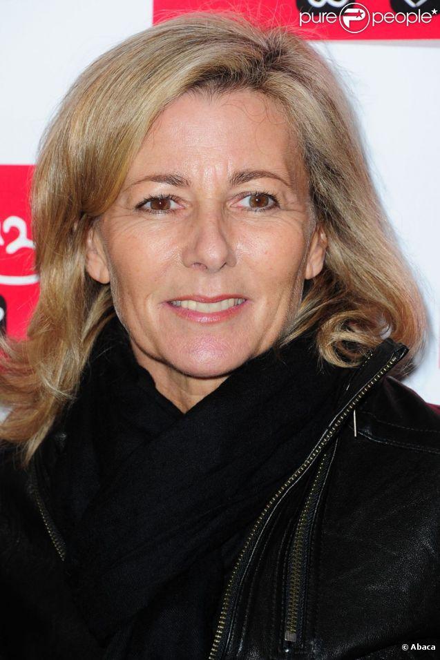 Claire Chazal en février 2011 à Paris