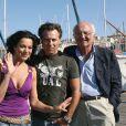 Roberto Alagna, sa femme Angela Gheorghiu, et Vladimir Cosma, à Marseille, le 30 août 2007.