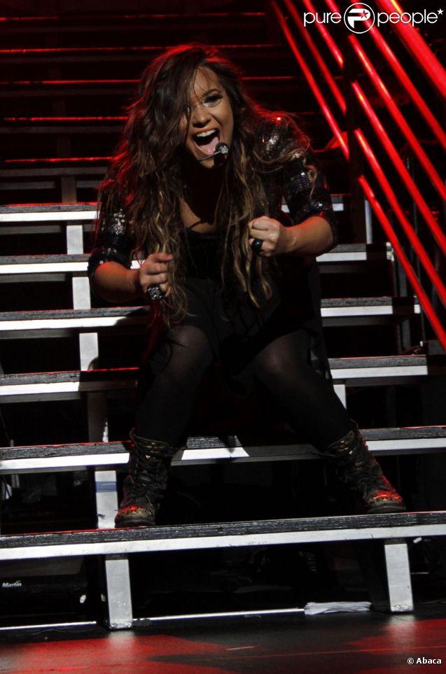 Demi Lovato se produit à New York pour présenter quelques extraits de son nouvel album, Unbroken, samedi 17 septembre 2011.