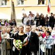 Le prince Daniel et la princesse Victoria de Suède prennent la pose à Abo en Finlande le 20 septembre 2011