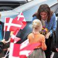 Mary de Danemark a retrouvé des jeunes élèves et des professeurs dans le cadre du programme qu'elle a lancé en 2006, Free of Bullying, pour combattre les mauvais traitements dans le pays. Esbjerg, 21 septembre 2011