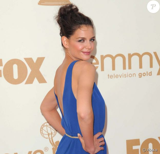 Katie Holmes aux Emmy Awards, à Los Angeles, le 18 septembre 2011.