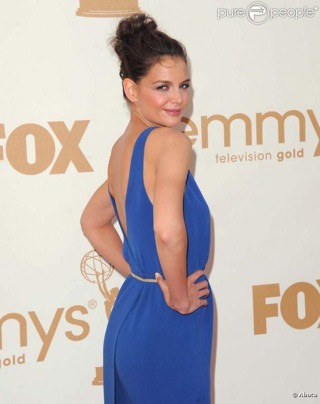 Katie Holmes aux Emmy Awards, à Los Angeles, le 18 septembre 2011.