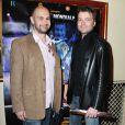 Fabien Remblier et Olivier Kauffer à l'avant-première du film Une nuit au cirque (4 mai 2010, Cirque d'hiver à Paris)