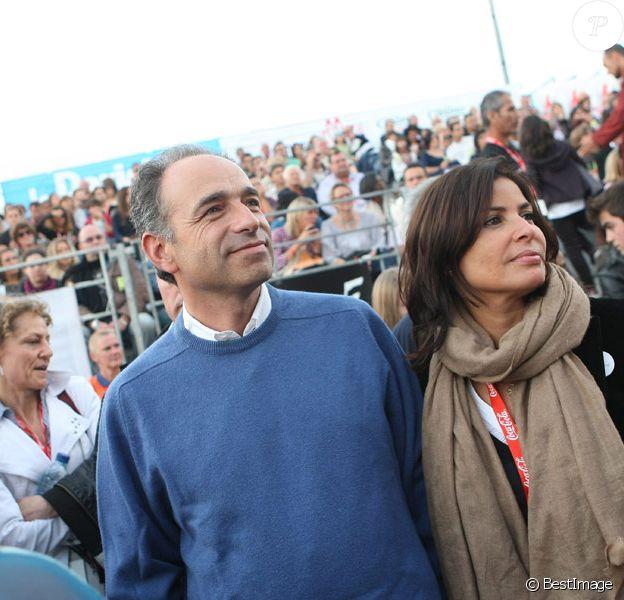 Jean-François Copé et sa compagne Nadia d'Alincourt au Festival  Musik'Elles à Meaux, le 24 septembre 2011