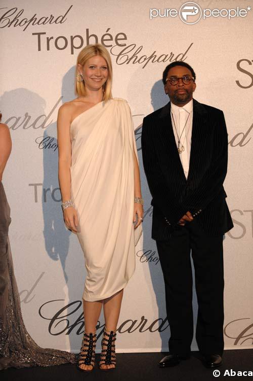 Gwyneth Paltrow et Spike Lee à la soirée Chopard le 19/05/08