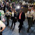 Arrivée de LaToya Jackson au procès du docteur Conrad Murray au tribunal de Los Angeles le 27 septembre 2011, accusé d'homicide involontaire sur Michael Jackson