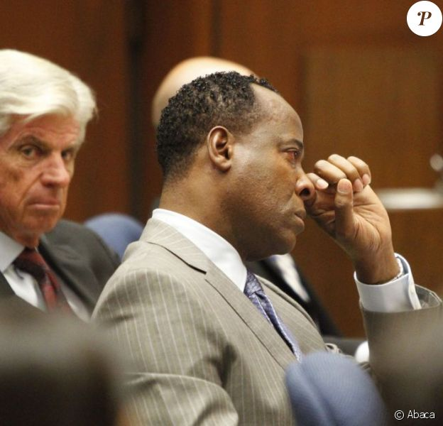 Le docteur Conrad Murray lors de son procès au tribunal de Los Angeles le 27 septembre 2011, accusé d'homicide involontaire sur Michael Jackson