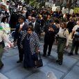 Katherine et Joe Jackson, les parents de Michael Jackson arrivent au procès du docteur Murray au tribunal de Los Angeles le 27 septembre 2011, accusé d'homicide involontaire sur Michael Jackson