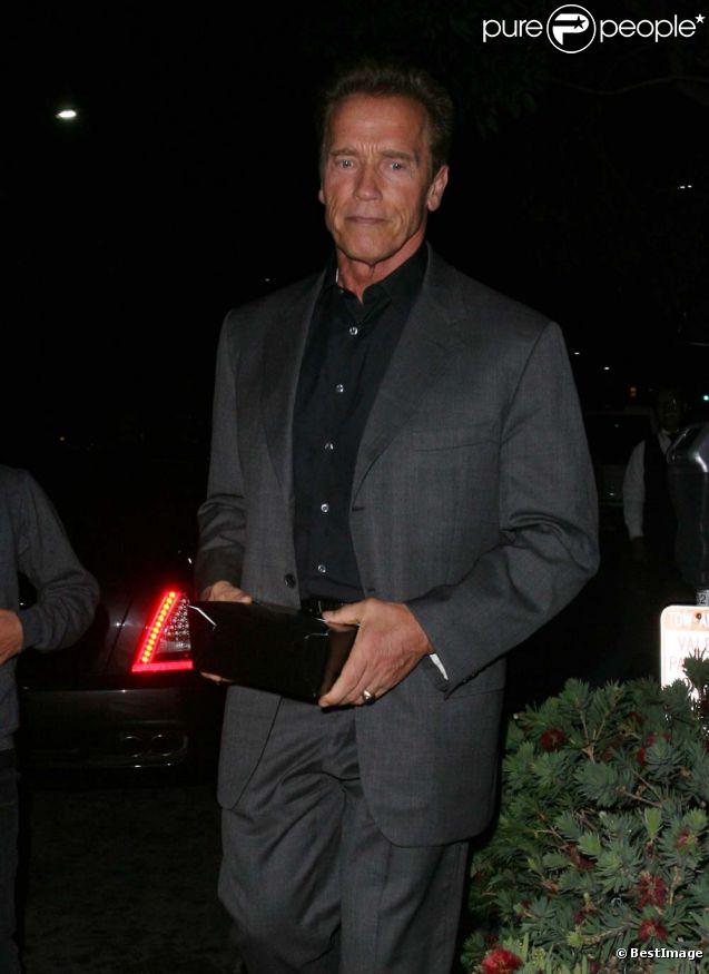 Arnold Schwarzenegger, dîner en famille, à Beverly Hills, le 27 septembre 2011.