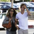 Maria Shriver et son fils Patrick ont passé près d'une heure à l'hôtel avec Arnold Schwarzenegger, à Santa Monica, le 25 septembre 2011.