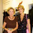 Ariane Dandois et sa fille Ondine de Rothschild lors du cocktail donné le mardi 27 septembre pour l'ouverture du nouvel espace entièrement dédié aux montres et bijoux,  au sein de la boutique Ralph Lauren.