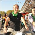 Laurent Petitguillaume lors de la Green Ride 2011. Le 2 octobre 2011
